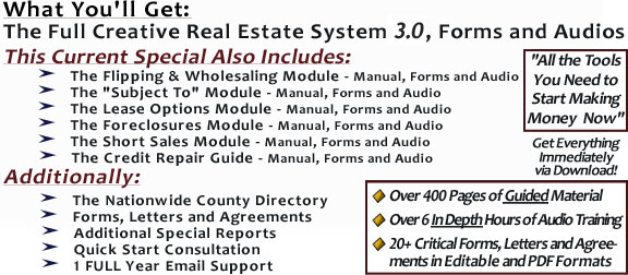 The Real Estate Investing Program Includes and Details